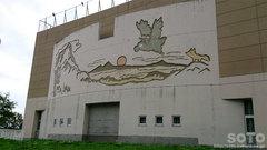羅臼小学校壁画(1)