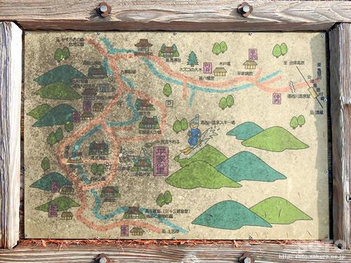 湯西川 周辺図