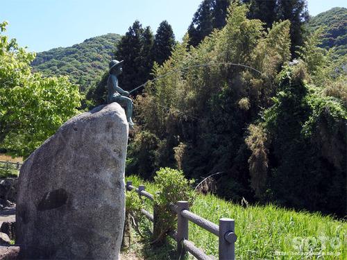 20190521湯野温泉郷(坊ちゃん像)