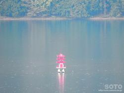 洞爺湖展望台(洞爺湖に浮かぶ三重塔)