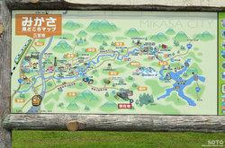 三笠観光マップ