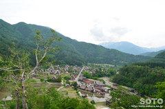 白川郷(荻町城趾からの眺め)