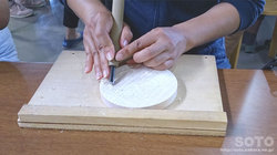 木彫り体験(2)
