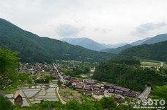 白川郷(城山天守閣展望台からの眺め)