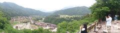 白川郷(城山天守閣展望台からのパノラマ)