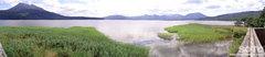 阿寒湖遊覧船(マリモ展示観察センターからのパノラマ)