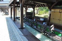 しかべ間歇泉公園(足湯)