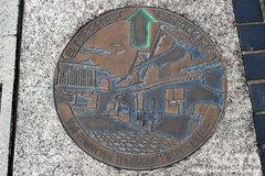 竹原の町並み(マンホール1)