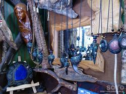 阿寒湖温泉街木彫りのお店