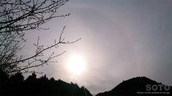 2016/03/25の日暈