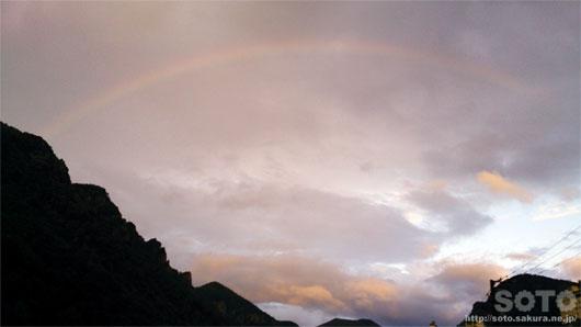 層雲峡の虹
