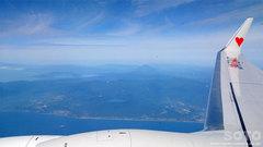 飛行機内から(2)