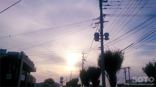 2016/10/18夕陽に暈