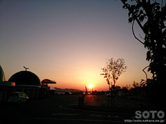 2014/04/14の夕陽