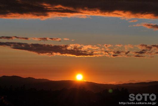 2014/09/16の夕陽