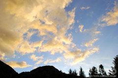 黄色く染まった雲(2)
