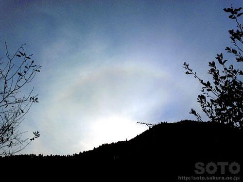 2011/12/31の日暈