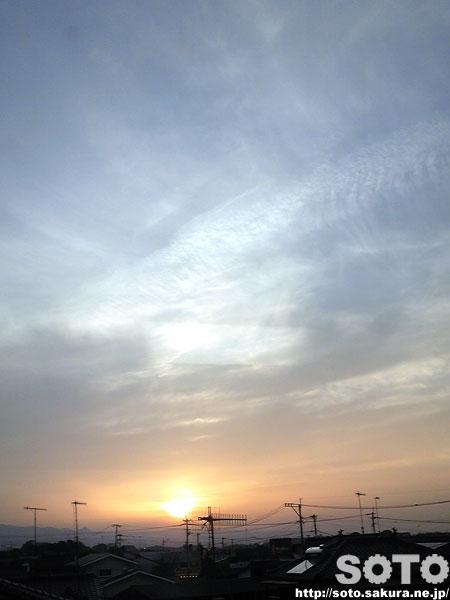 中津の夕陽