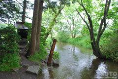 常堅寺(カッパ淵 全景)