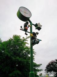 浦幌町の街灯時計