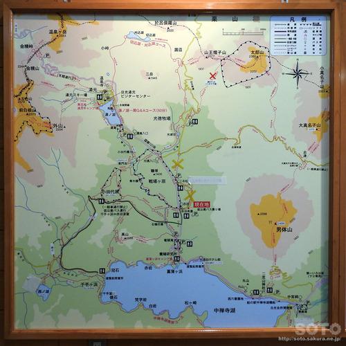 奥日光ハイキング(地図)