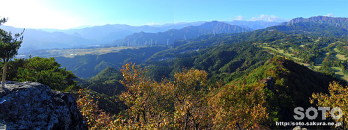 嵩山(大天狗からのパノラマ)