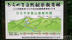 ひらやま登山道案内図