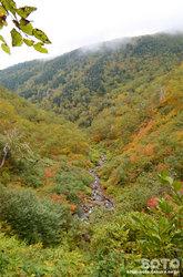 愛山渓沼の平(村雨の滝付近から見下ろす)
