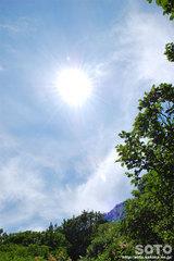 黒岳登山(太陽と彩雲)