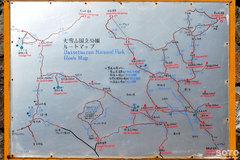 大雪山登山ルートマップ
