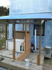 山小屋の足洗い場(2)
