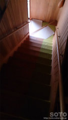山小屋の階段(1)