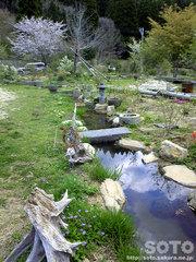 山小屋の庭